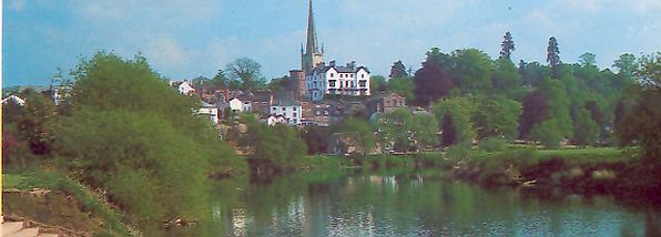 The town of Ross on Wye in the Wye Valley